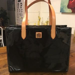 Dooney & Bourke Black Patent Leather Shopper!